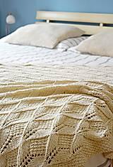 Úžitkový textil - Prírodná pletená deka 120 x 180 cm - 8309187_
