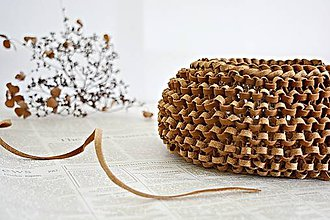 Košíky - Korkový pletený košík - 8309166_