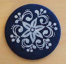 Odznaky/Brošne - brošňa modrotlač Folk - 8309273_