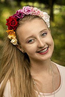 Ozdoby do vlasov - Kvetinová čelenka - Colorita - 8308545_