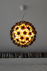 Svietidlá a sviečky - Závesná lampa z recyklovaných PET fliaš - 8308555_