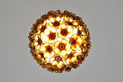 Svietidlá a sviečky - Závesná lampa z recyklovaných PET fliaš - 8308557_