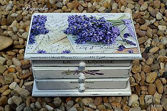 Krabičky - Šperkovnica levanduľová - 8309819_