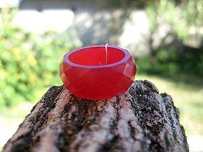 Prstene - Farebný živicový prsteň brúsený (Malinový živicový prsteň 18mm č.1012) - 8309133_