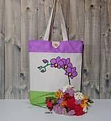 - Nákupná taška - orchidea - 8308401_