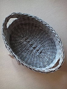 Košíky - Pletená ošatka oválna - 8309925_