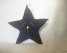 8c97954d8262 Detské doplnky - Háčkovaná tmavomodrá hviezda - prudko uspávajúca - 8308606
