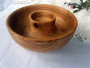 Nádoby - drevená miska- svietnik... - 8310270_