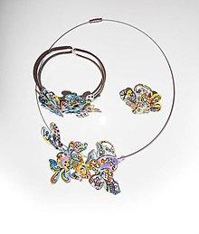 Sady šperkov - set deti slnka-náhrdelník,náramok, prsteň - 8311251_