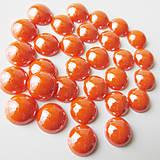 - Perleťový: Pomaranč tmavý / sklenený kabošon 11,5mm - 8310684_