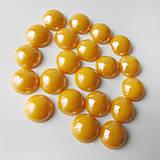 - Perleťový: Pomaranč svetlý / sklenený kabošon 11,5mm - 8310703_