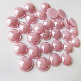 - Perleťový: Staroružový / sklenený kabošon 11,5mm - 8310752_