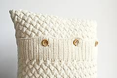 Úžitkový textil - Pletený vankúš - 8310874_