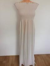 Šaty - Lněné šaty-žabkované - 8310230_