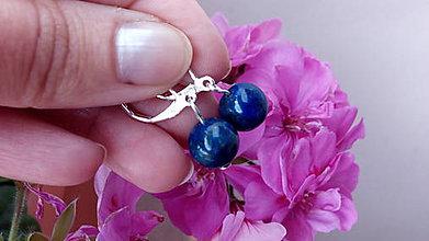 Náušnice - Lapis Lazuli v striebre (Ag 925/1000) - 8312620_