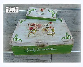 Krabičky - Krabica pre párik-svadobná krabička+peračník :) - 8312736_