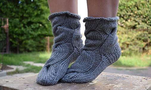 88941ee67 Osmičkové ponožky - šedé (v.37-39) / Eva64 - SAShE.sk - Handmade Obuv