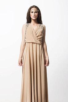 a9f8aad00 Šaty - Hodvábne mandlové šaty - 8310777_