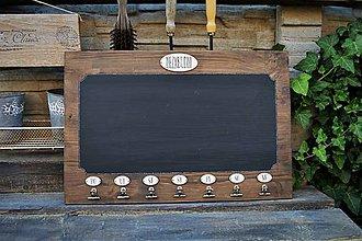 Tabuľky - Vintage odkazovač s plánovačom - 8312531_