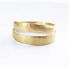 Prstene - Satin & hammer II wedding bands - 8315657_
