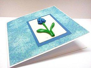 Papiernictvo - Pohľadnica ... Modrý kvet - 8314934_