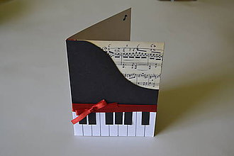 Papiernictvo - pohľadnica klavír - 8315551_