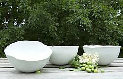 misky porcelánové polievkové - škrupinky