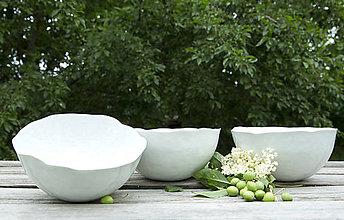Nádoby - misky porcelánové polievkové - škrupinky - 8313737_
