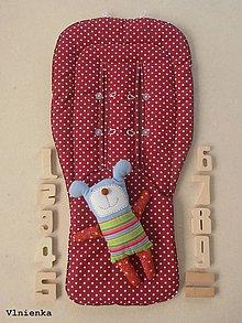 Textil - VLNIENKA Univerzálna letná podložka do kočíka BUGABOO Bodka bordová vínová - 8313735_