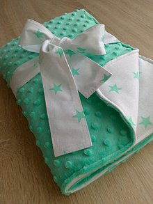 Textil - Minky deka *mentol* - 8314245_
