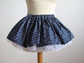 Detské oblečenie - detská tylová folk suknička - 8314664_