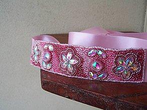Opasky - opasok - ružová stuha - 8313923_