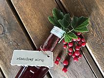 Potraviny - Sirup z červených ríbezlí - 8313527_