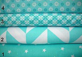 Textil - Bavlnená látka - kombinácia mentolová - 8314541_