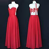 Šaty - Spoločenské šaty s elastickým živôtikom a kruhovou sukňou rôzne farby - 8314131_
