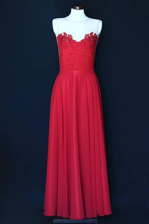 a88fbe4d681d Spoločenské šaty s elastickým živôtikom a kruhovou sukňou rôzne farby