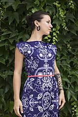 Šaty - Folky blue - letné midi šaty - 8313696_