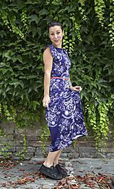 Šaty - Folky blue - letné midi šaty - 8313700_