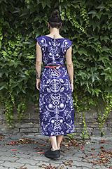Šaty - Folky blue - letné midi šaty - 8313702_