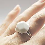 Prstene - Prsteň biely Krystalix / RING White - 8313138_