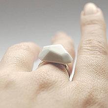 Prstene - Prsteň biely Krystalix / RING White - 8313137_