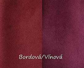 Textil - Obojstranný umelý semiš, Bordová/Vínová, 20x20cm, bal.1ks - 8314719_