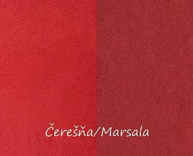 Textil - Obojstranný umelý semiš, Čerešňa/Marsala, 20x20cm, bal.1ks - 8314737_