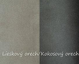 Textil - Obojstranný umelý semiš, Lieskový orech/Kokosový orech, 20x20cm, bal.1ks - 8314750_