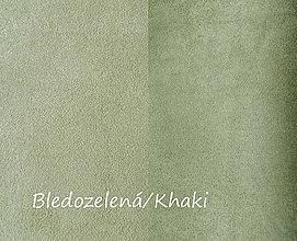 Textil - Obojstranný umelý semiš, Bledozelená/Khaki, 20x20cm, bal.1ks - 8314760_