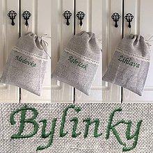 Úžitkový textil - Vrecúška na bylinky a sypaný čaj - 8314451_