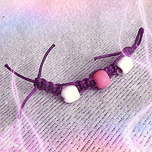 Kľúčenky - Shamballa kľúčenka - fialové pohladenie - 8313193_