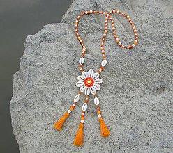 Náhrdelníky - Mušľový kvet - 8315316_