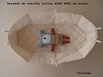 Hniezdo do vaničky kočíka MIMA XARI 100% bavlna smotanová na mieru
