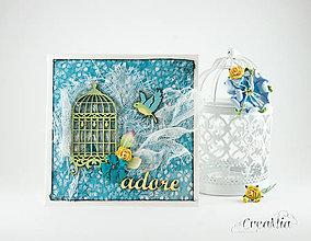 Papiernictvo - adore - romantická pohľadnica pre milovanú osobu k akémukoľvek sviatku - 8316249_